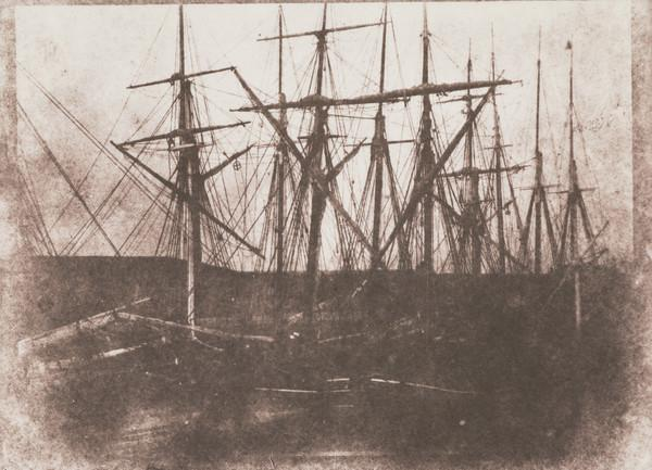 Ships' masts and rigging,  Leith docks [?] or St Andrews harbour (1843 - 1846 (printed 1991))