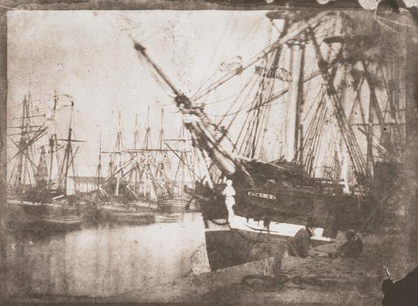 Leith docks with the ship 'Cockburn' tied up (1843 - 1846 (printed 1991))