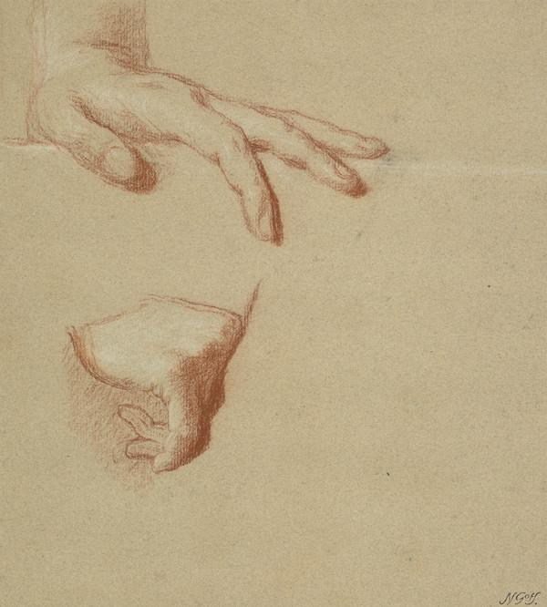 A Man's Left and Right Hands. Study for the Painting of George III in Coronation Robes