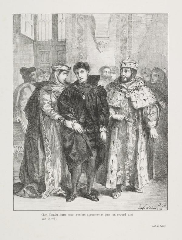 La Reine S'Efforce de Consoler Hamlet' (The Queen Attempts to Console Hamlet) (Act I, Scene II) (Published 1864)