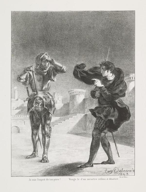 Le Fantome sur la Terrasse' (The Ghost on the Battlements) (Act I, Scene V) (Published 1864)