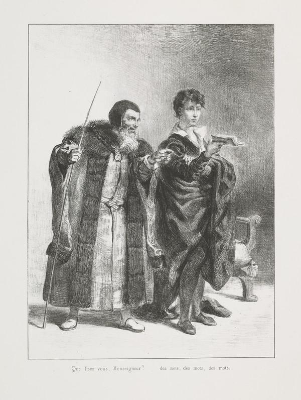 Polonius et Hamlet' (Polonius and Hamlet) (Act II, Scene II) (Published 1864)