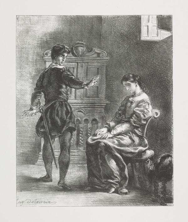 Hamlet et Ophelie' (Hamlet and Ophelia) (Act III, Scene I) (Published 1864)