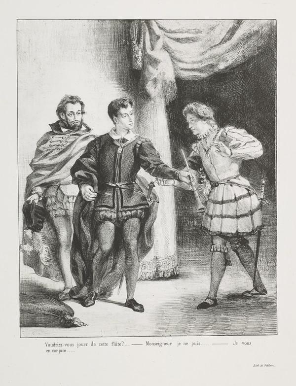 Hamlet et Guildenstern' (Hamlet and Guildenstern) (Act III, Scene II) (Published 1864)