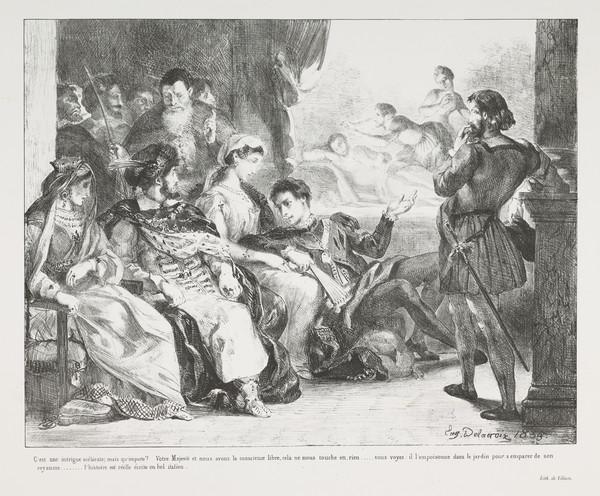 Hamlet Fait Jouer aux Comediens la Scene de l'Empoisionnement de son Pere' (Hamlet Plays with the Comedians the Scene of his Father's Poisoning) ... (Published 1864)