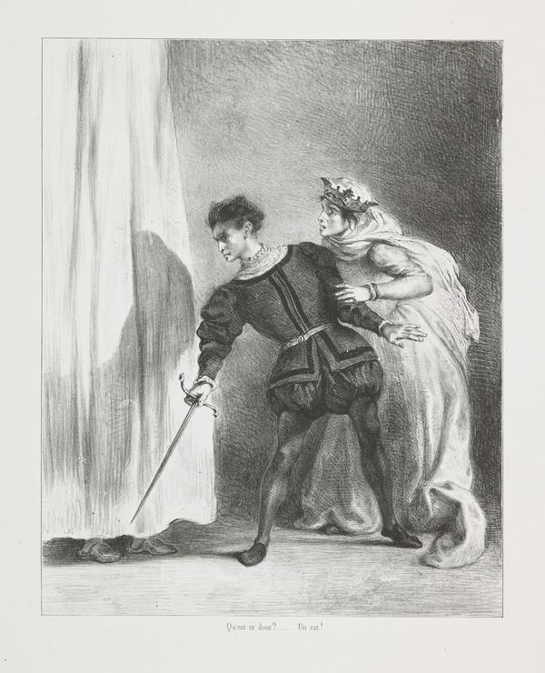 Le Meurtre de Polonius' (The Murder of Polonius) (Act III, Scene IV) (Published 1864)