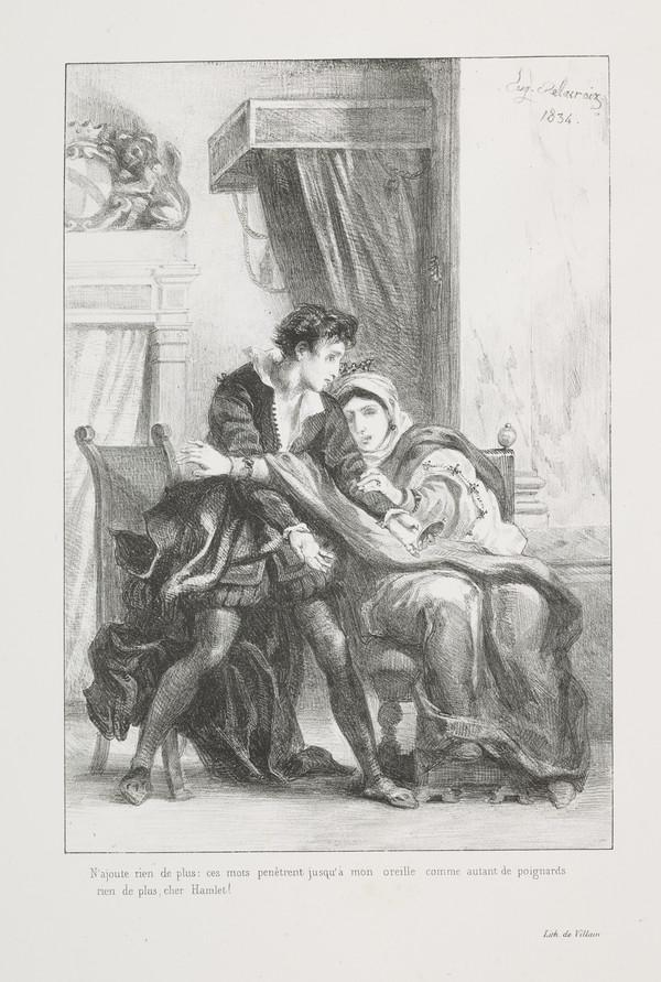 Hamlet et la Reine' (Hamlet and the Queen) (Act III, Scene IV) (Published 1864)