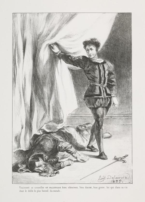 Hamlet et le Cadavre de Polonius' (Hamlet and Polonius' Corpse) (Act III, Scene IV) (Published 1864)