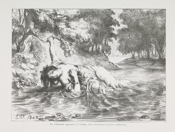 Mort d'Ophelie' (Ophelia's Death) (Act IV, Scene VII) (Published 1864)