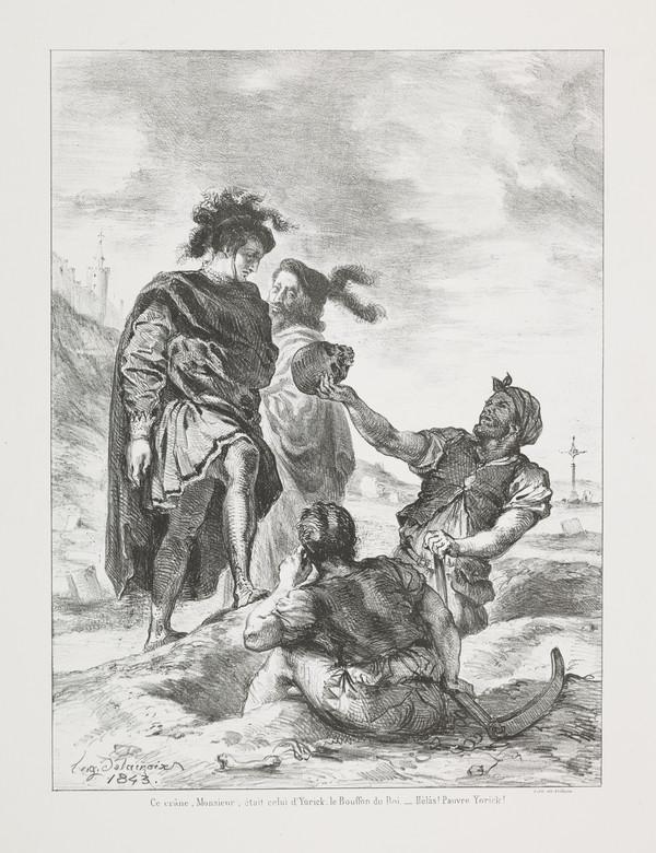 Hamlet et Horatio devant les Fossoyeurs' (Hamlet and Horatio before the Gravediggers' (Act V, Scene I) (Published 1864)