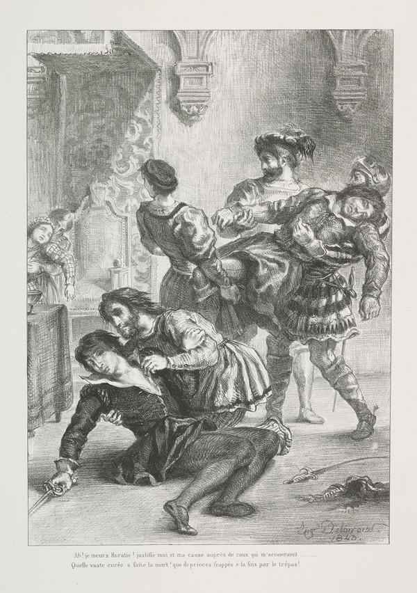 Mort d'Hamlet' (Hamlet's Death) (Act V, Scene II) (Published 1864)