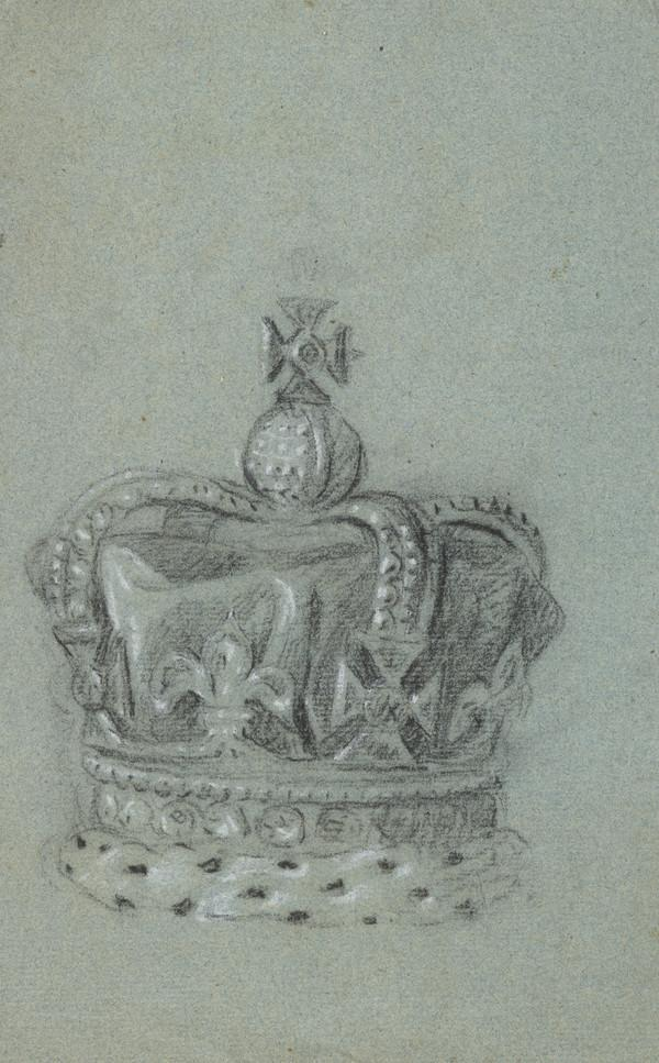 A Crown. Study for the Painting of George III in Coronation Robes (c 1761)