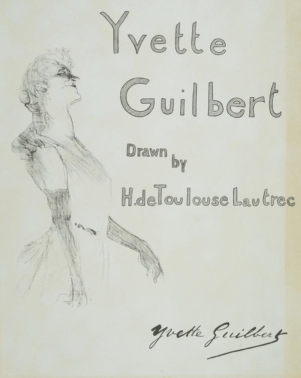 Cover for 'Yvette Guilbert' (1898)