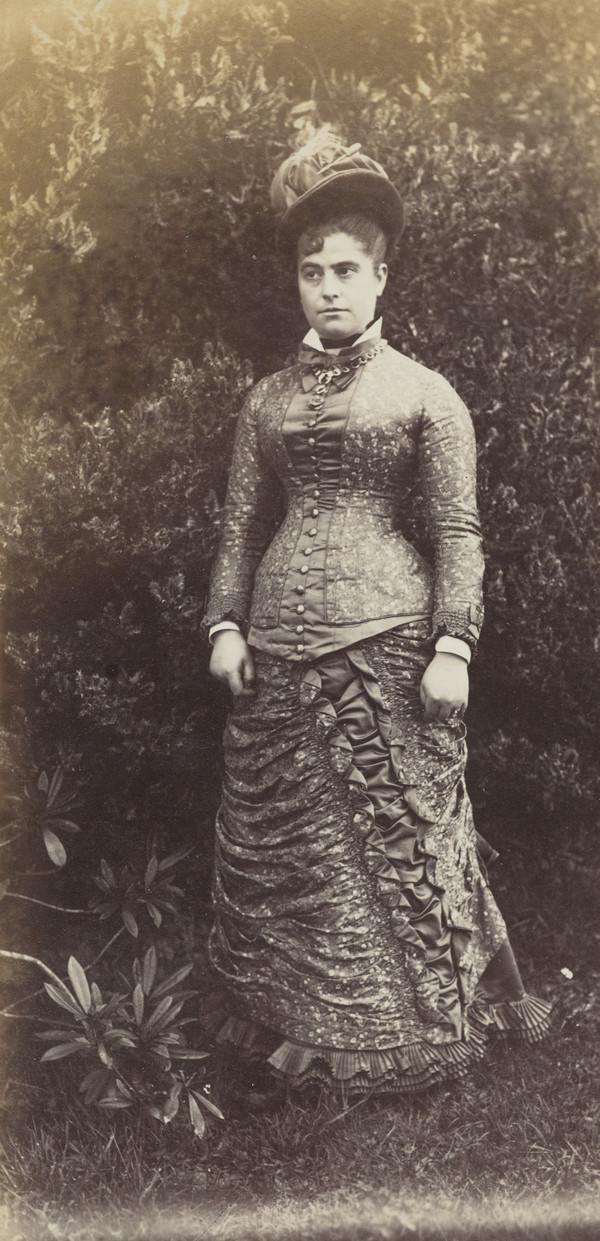 'Mrs Trankel' 3/4 length portrait in masked oval at Invertrossachs