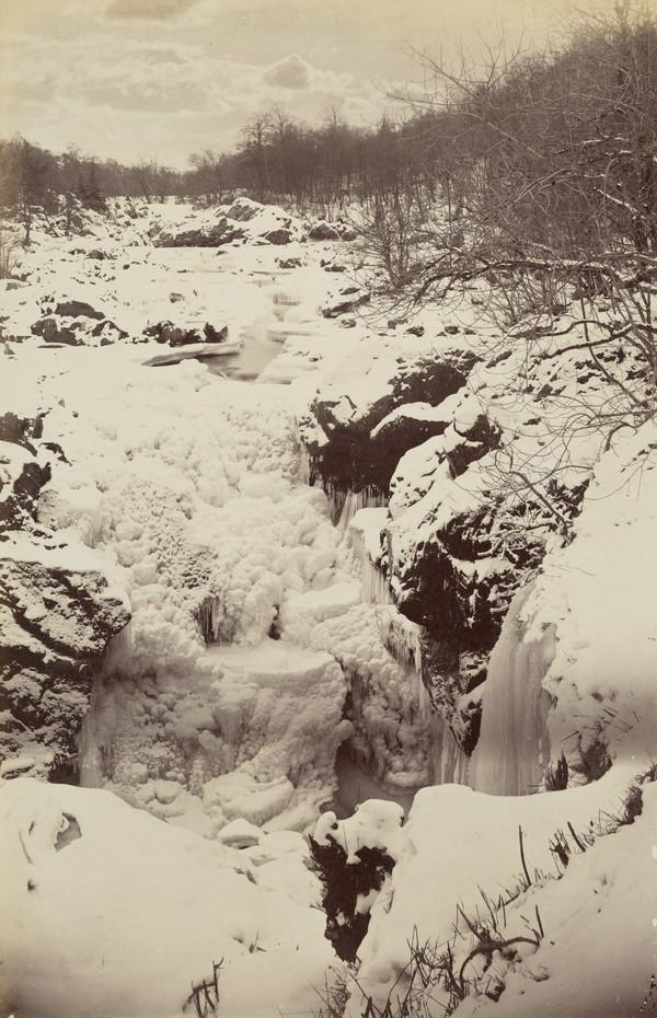 'Rumbling Bridge' 1881 (Winter) Snow scene (1881)