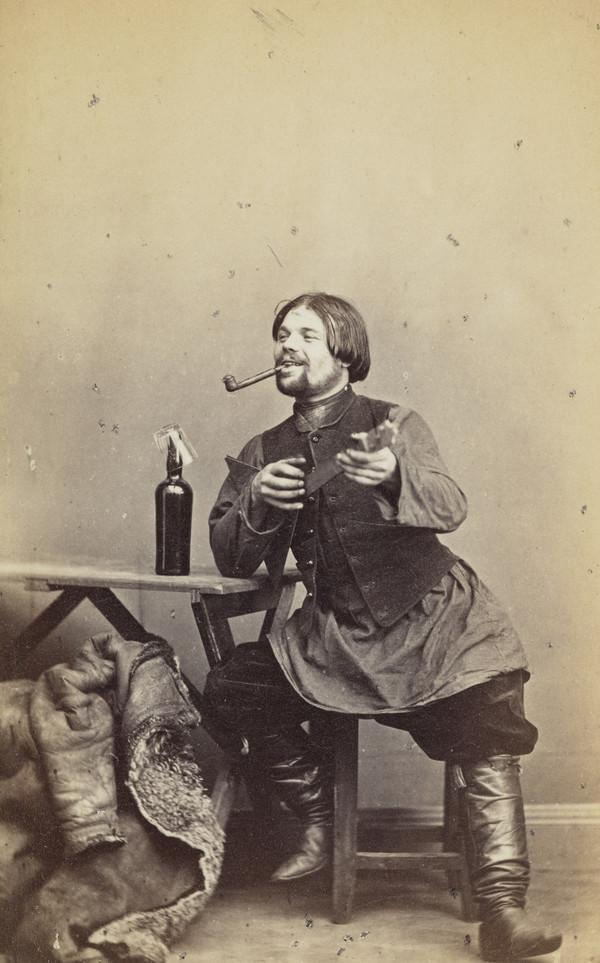 A Balalaika Player, St Petersburg (About 1860)