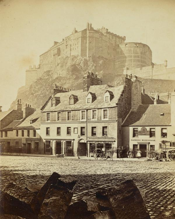 Edinburgh Castle from the Grassmarket.