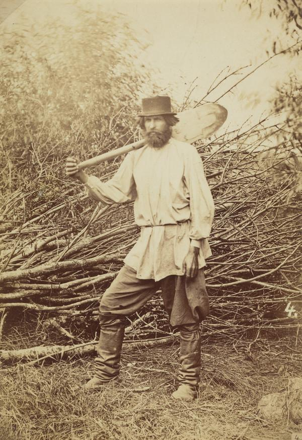 Man with a spade, Russia (1871)