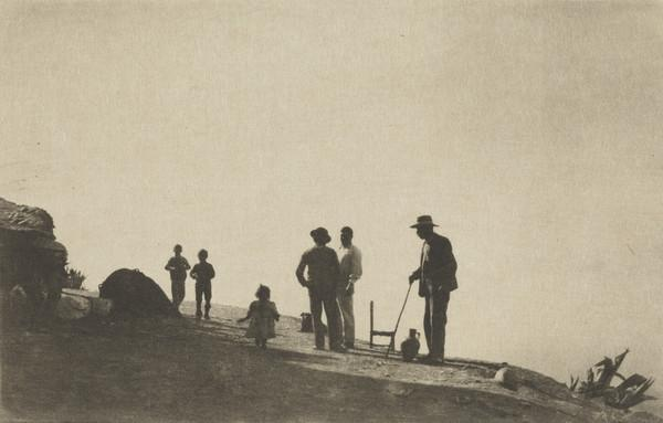 Group on a Hill Road - Granada (1913)