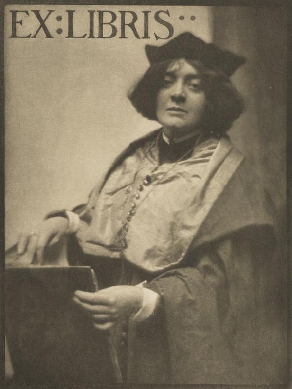 'Ex Libris' Portrait of a woman academic (1904)