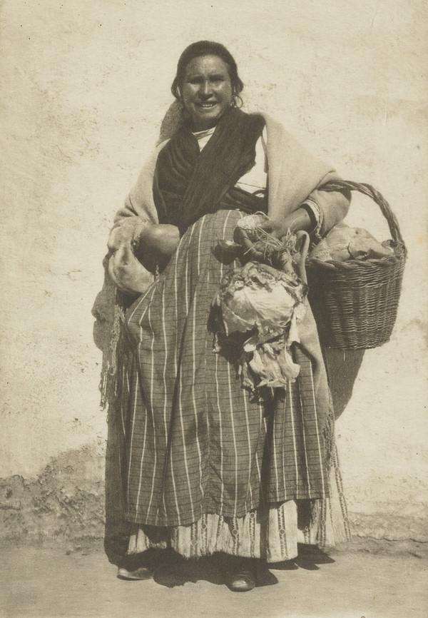 'A Gitana returning from market' (About 1905)