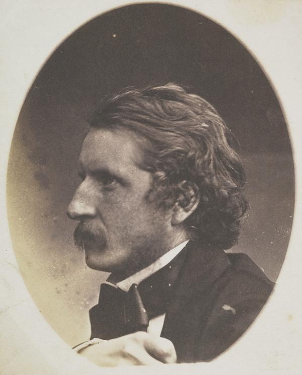 Unknown man with moustache, profile