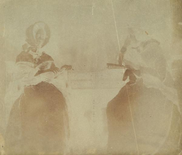 Two women, one annotated 'Miss B' (Late 1840s)