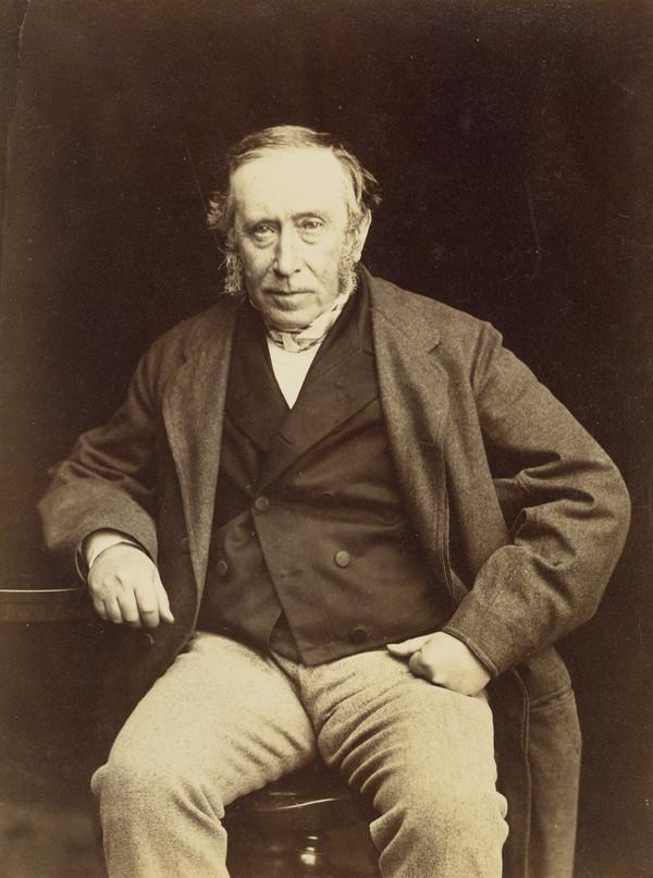 Professor James Syme, 1799 - 1870. Surgeon (About 1855)