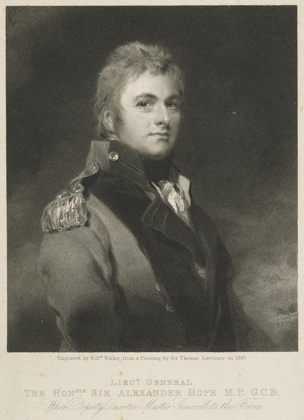 Lieutenant-General Sir Alexander Hope, 1769 - 1837. Son of the 2nd Earl of Hopetoun (Published 1825)