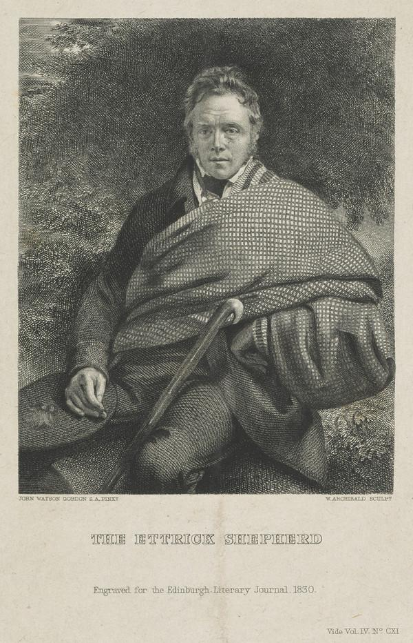 James Hogg, 1770 - 1835. Poet; 'The Ettrick Shepherd' (Published 1830)