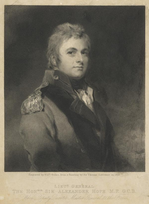 Lieutenant-General Sir Alexander Hope, 1769 - 1837. Son of the 2nd Earl of Hopetoun