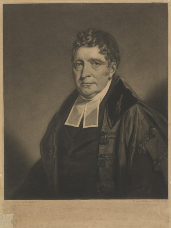 Rev. George Hill, 1750 - 1819. Principal of St Mary's College, St Andrews