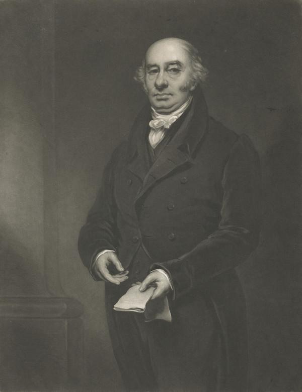 Rev. John Inglis, 1762 - 1834. Church leader and Minister at Old Greyfriars, Edinburgh (Published 1833)