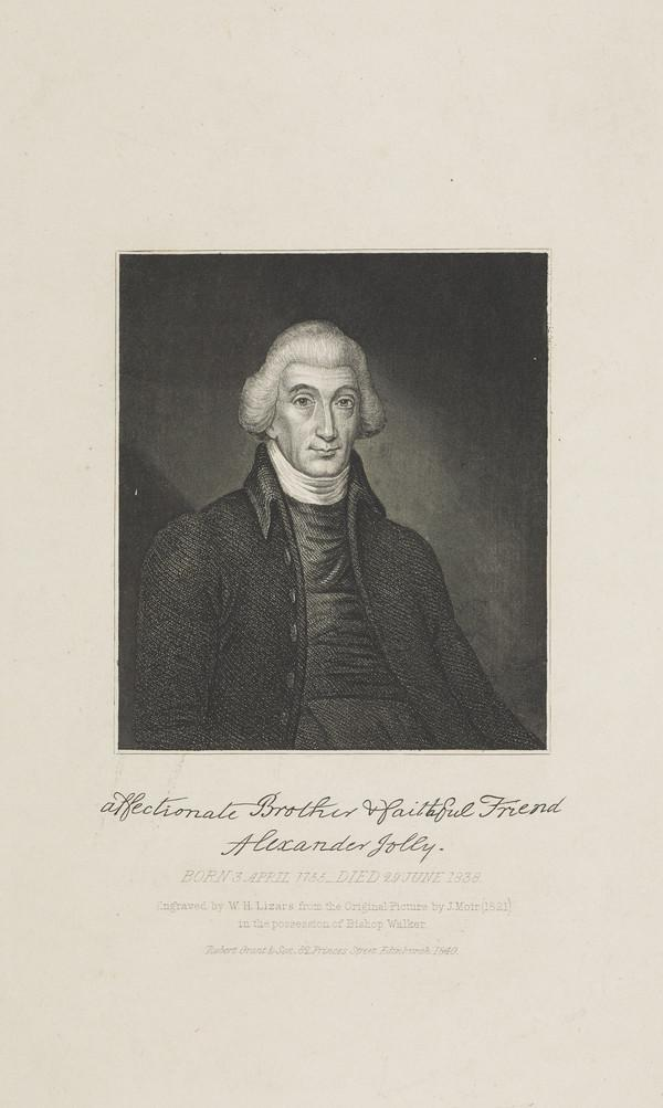 Alexander Jolly, 1756 - 1838. Bishop of Moray (Published 1840)