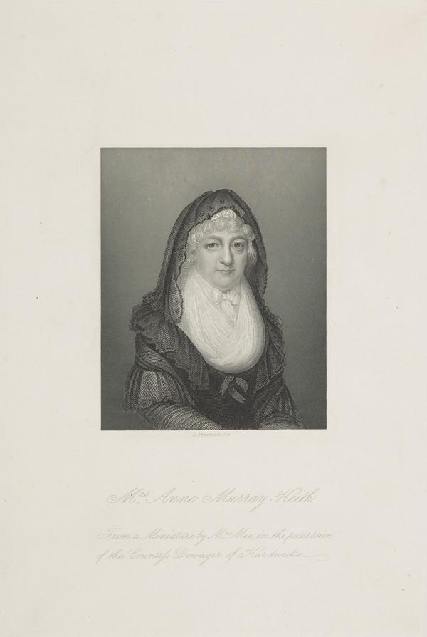Mrs (Anne Murray) Keith, 1736 - 1818. [Miss Anne Keith]