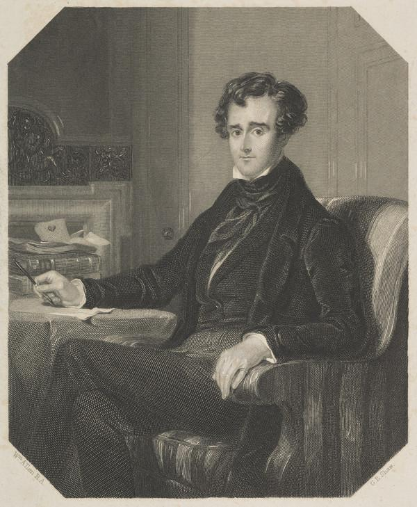 John Gibson Lockhart, 1794 - 1854. Son-in-law and biographer of Scott