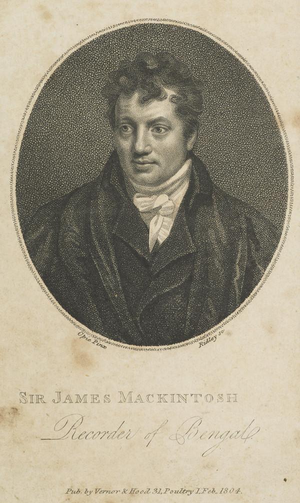 Sir James Mackintosh, 1765 - 1832. Philosopher (Published 1804)