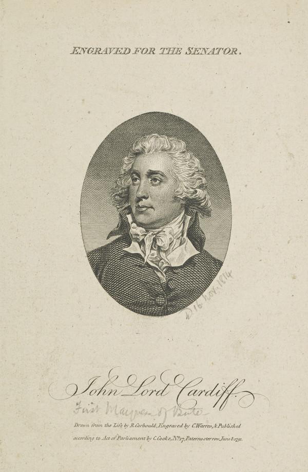 John Stuart, 1st Marquis and 4th Earl of Bute, 1744 - 1814. Diplomatist and collector (Published 1791)