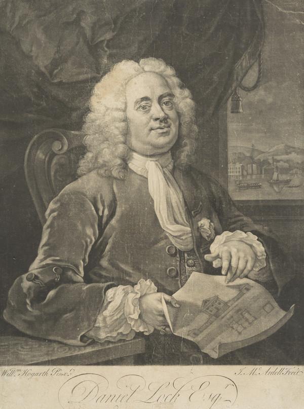 Daniel Lock, 1681 - 1754. Governor of the Foundling Hospital