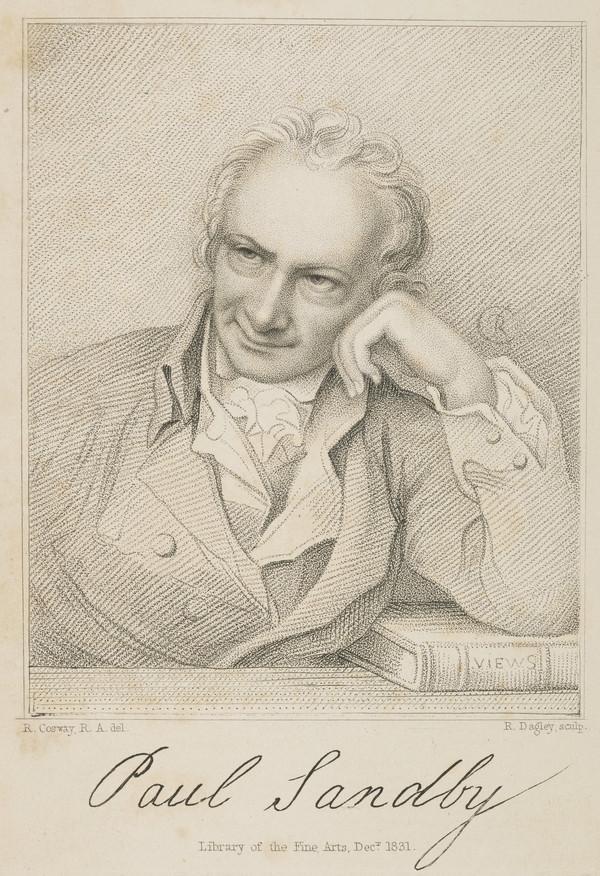 Paul Sandby, 1725 - 1809. Watercolour painter (1831)