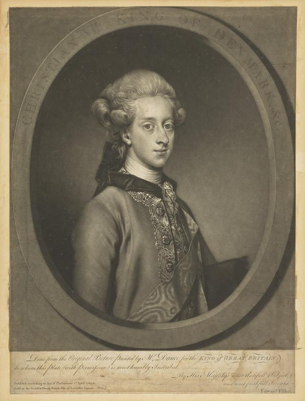 Christian VII, 1749 - 1808. King of Denmark (1769)