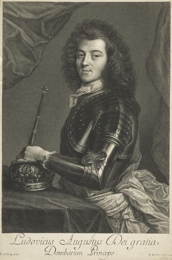 Louis Auguste de Bourbon, Duke of Maine et d'Aumale,1670 - 1736. Natural son of Louis XIV, King of France