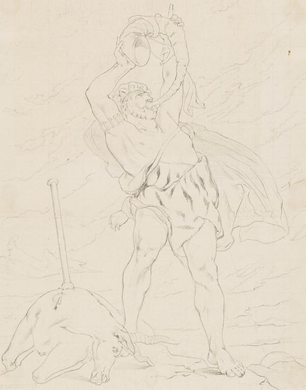 Nimrod. Copy after the Painting by David Scott (About 1832)