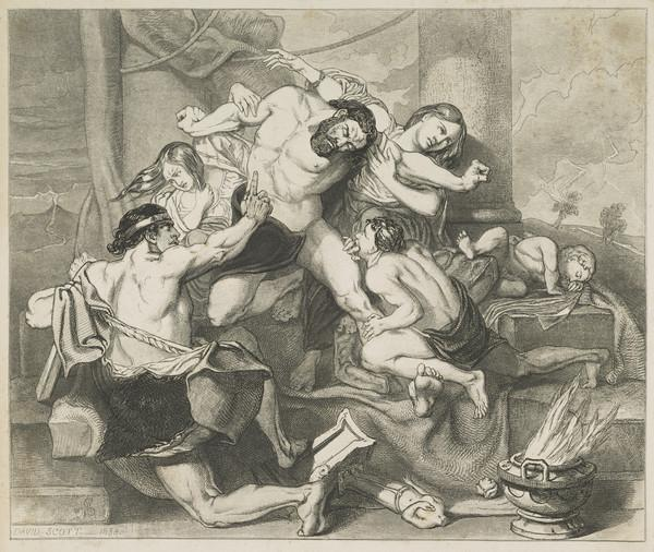 Study for the Painting 'The Agony of Discord, or the Household Gods Destroyed' (1833)