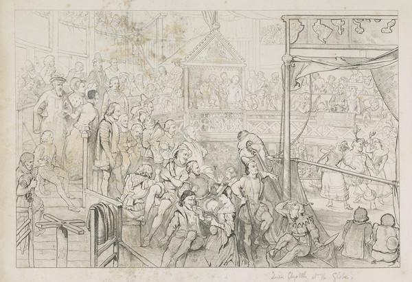 Queen Elizabeth Viewing the Performance of the Merry Wives of Windsor in the Globe Theatre (After 1841)