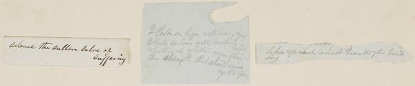 Three Scraps of Manuscript Prose