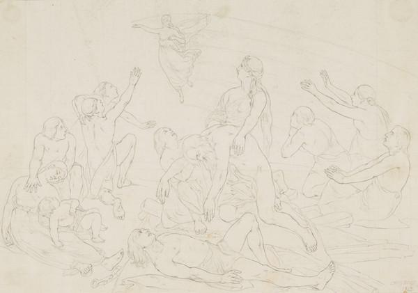 Hope Passing Across the Sky of Adversity. Copy after the Painting by David Scott (About 1847)