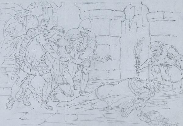 The King Finding his Son, the Duke of Rothesay, Dead