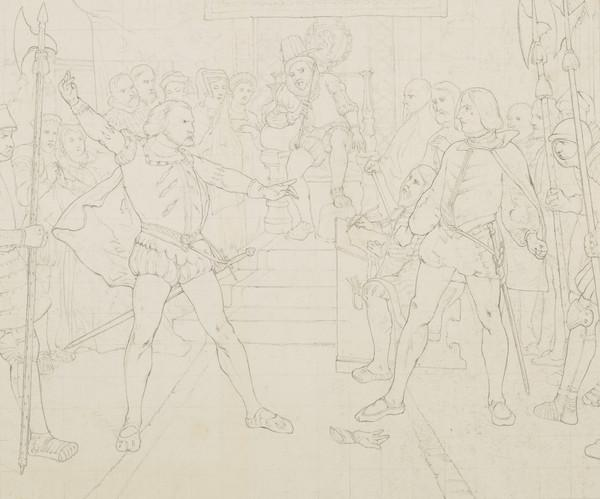 The Gage of Battle. Copy after David Scott