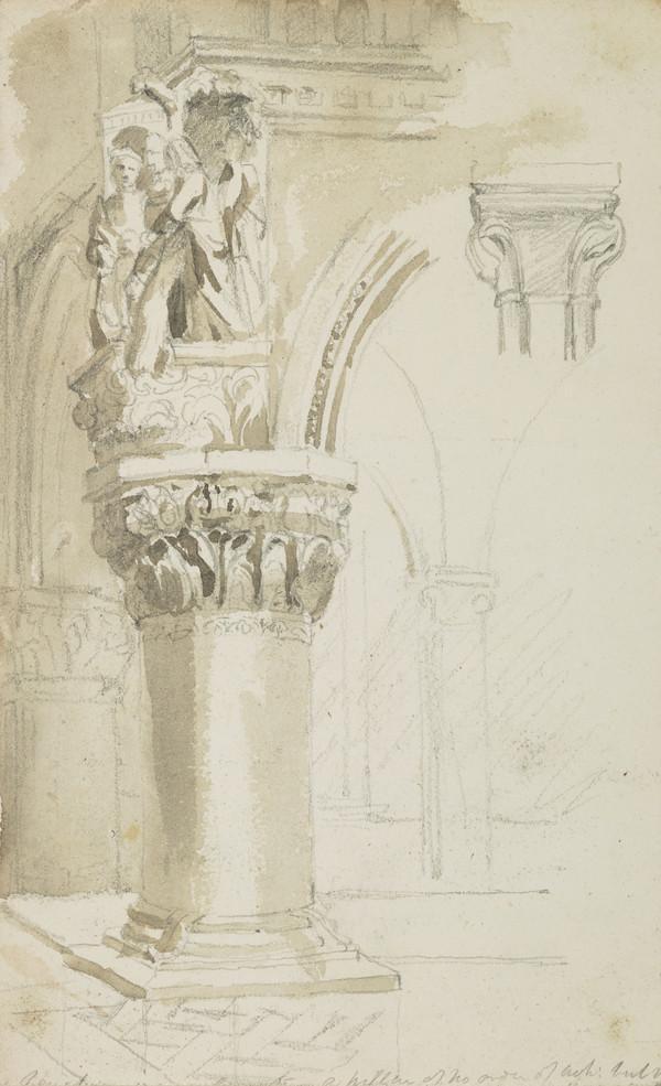Study of a Sculpted Column
